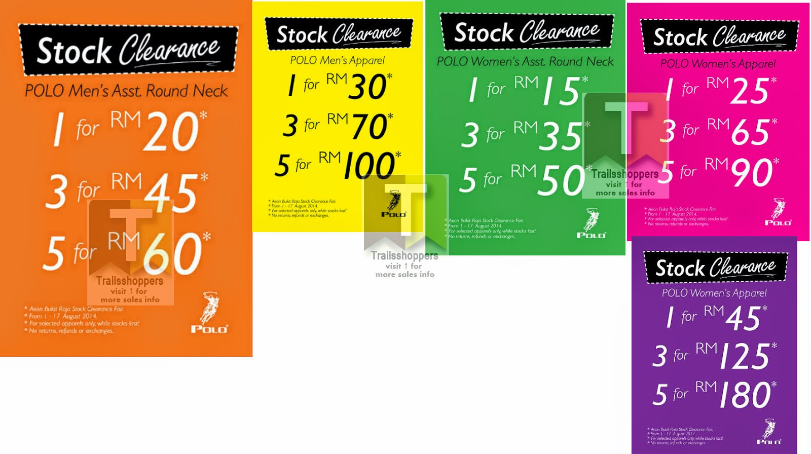 Polo Haus Stock Clearance Fair 2014 offers
