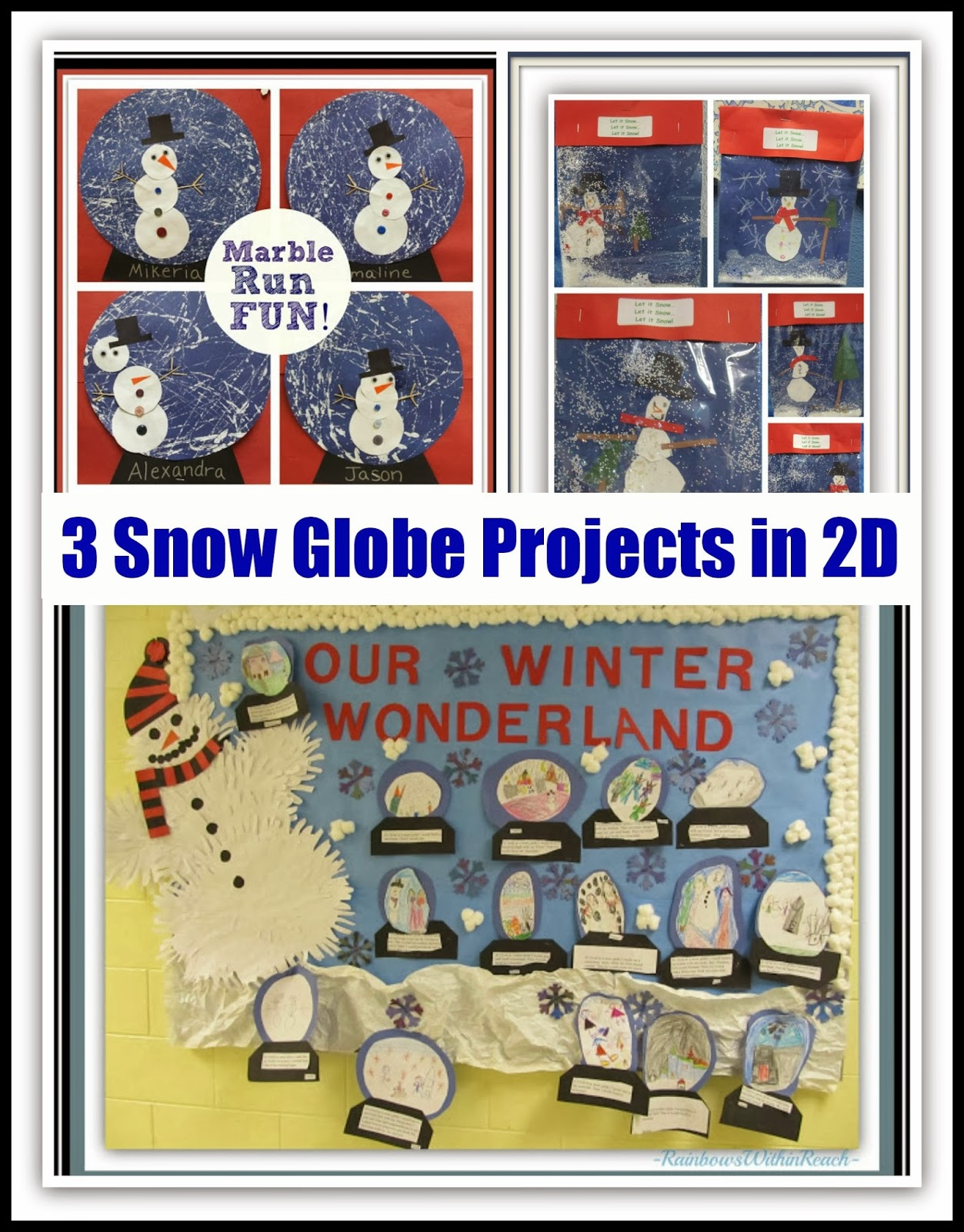 "3 ""Snow Globe"" Projects in 2 Dimensions at RainbowsWithinReach"