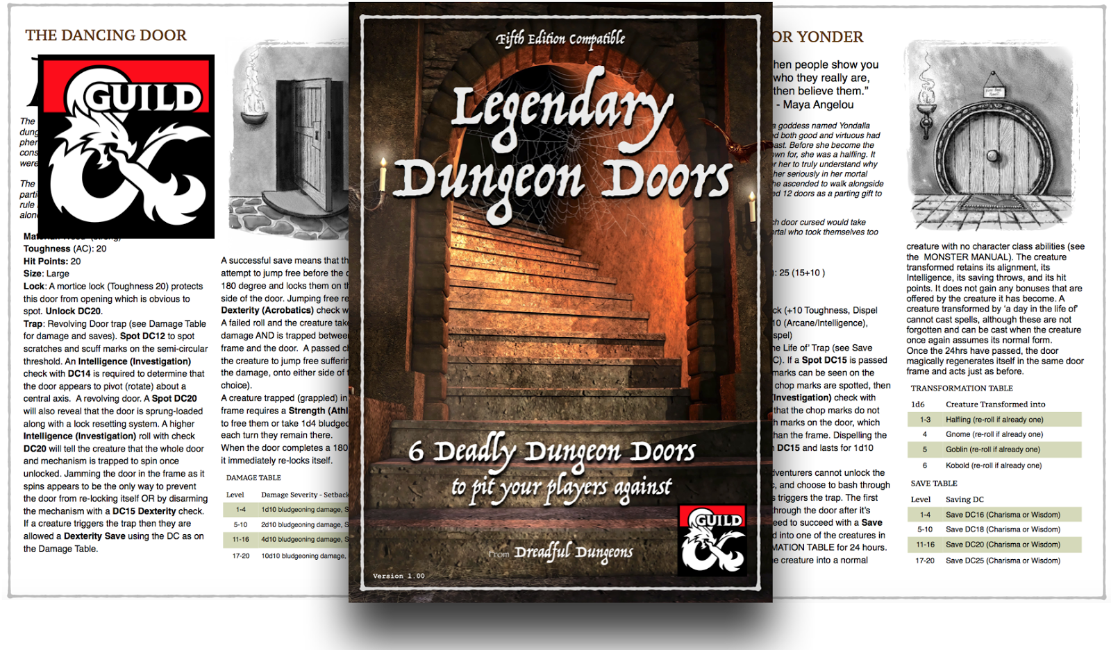 Download your 6 FREE Legendary Dungeon Doors