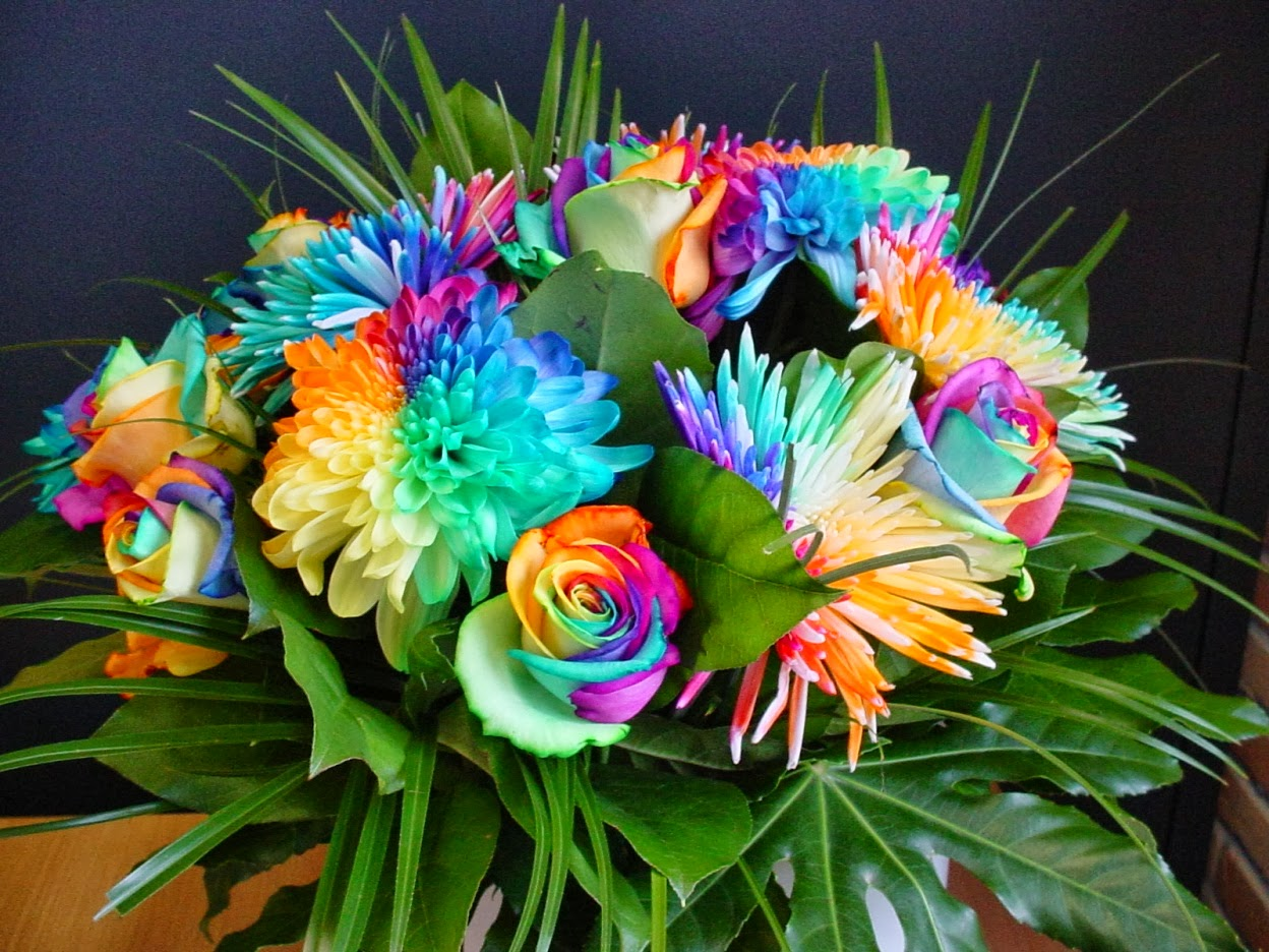 All 4u HD Wallpaper Free Download : Rainbow Flowers ...