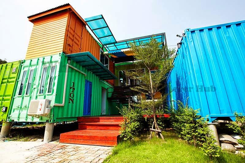 Casas ecologicas wanderer hub hostel un hostal para j venes construido con contenedores - Casas en contenedores marinos ...