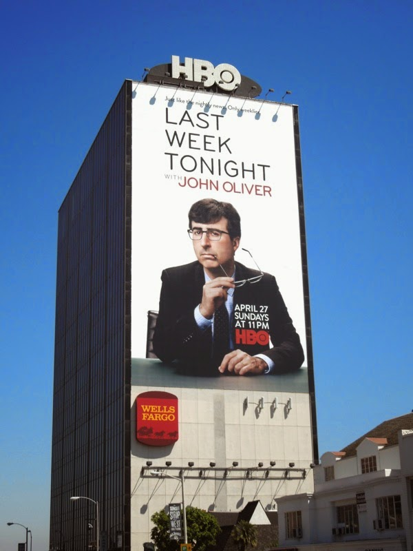 Last Week Tonight John Oliver series premiere billboard