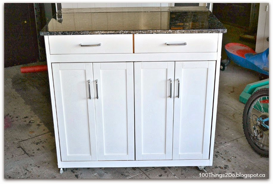 before and after portable kitchen island 100 things 2 do