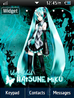 Anime Hatsune Miku Samsung Corby 2 Theme Wallpaper