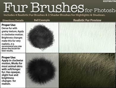 Pinceles de efectos de cabello y pelo para Photoshop ...
