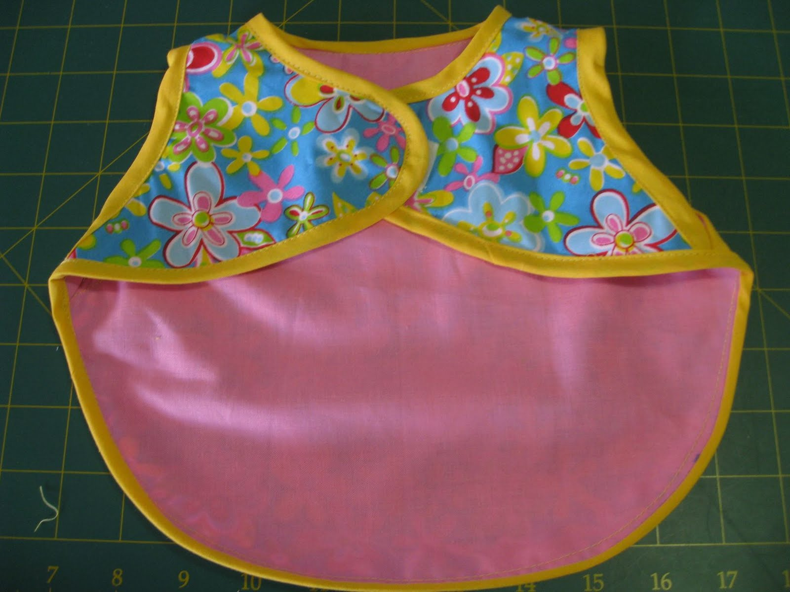 Vicki S Fabric Creations New Baby Apron Bib Feeder