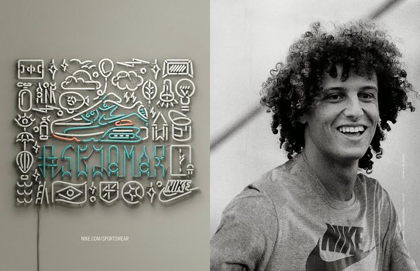 O jogador David Luiz na Campanha #Sejamax