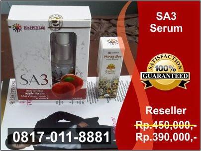 Distributor Resmi, Jual Serum Apel SA3 PT Happinessindo di Jakarta, Bogor, Depok, Tangerang, Bekasi, Bandung, Medan, Surabaya, Batam, Palembang