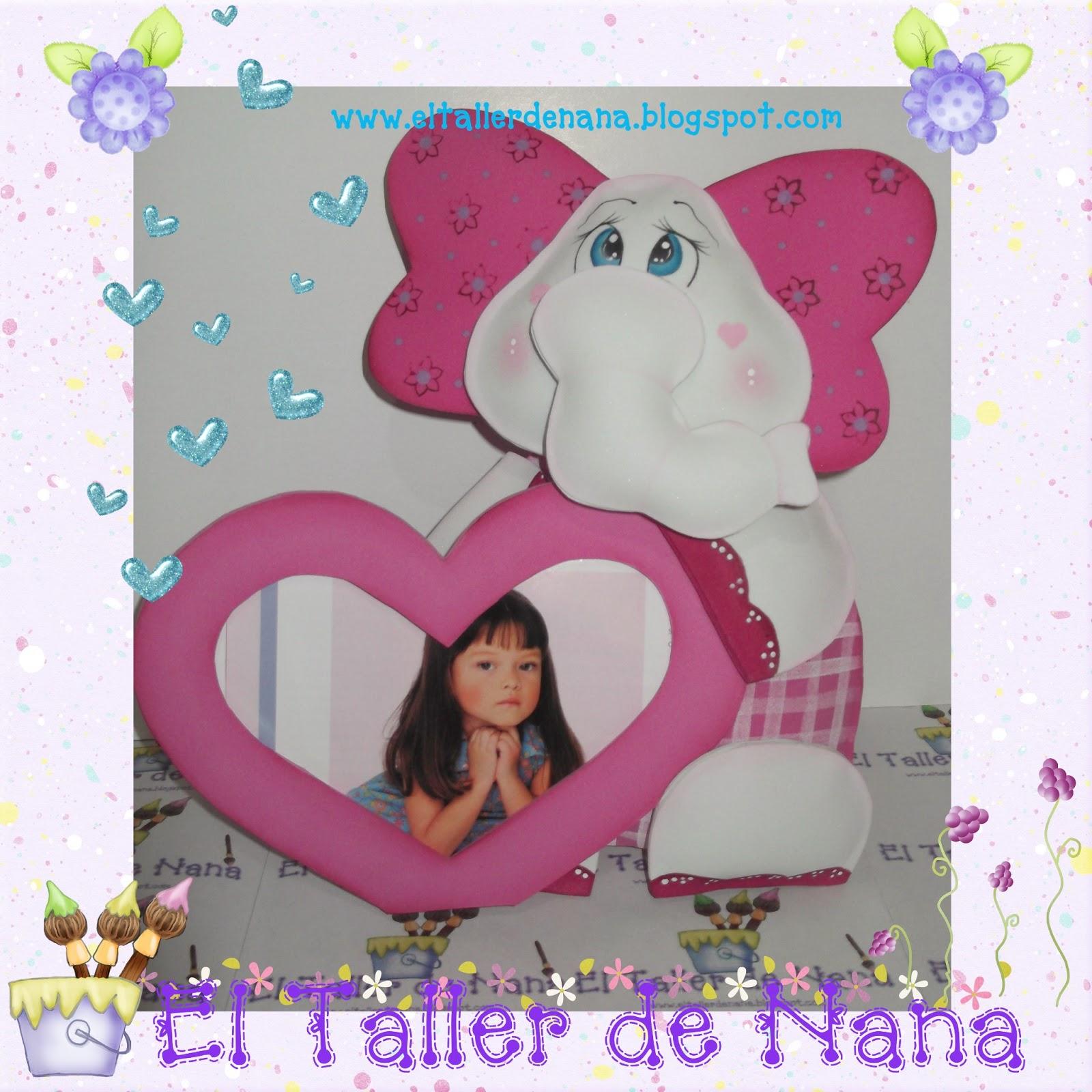 El Taller de Nana: Porta retrato Infantil en Foami