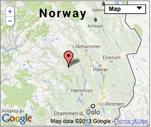 Norway Valdres Map - Norway valdres map