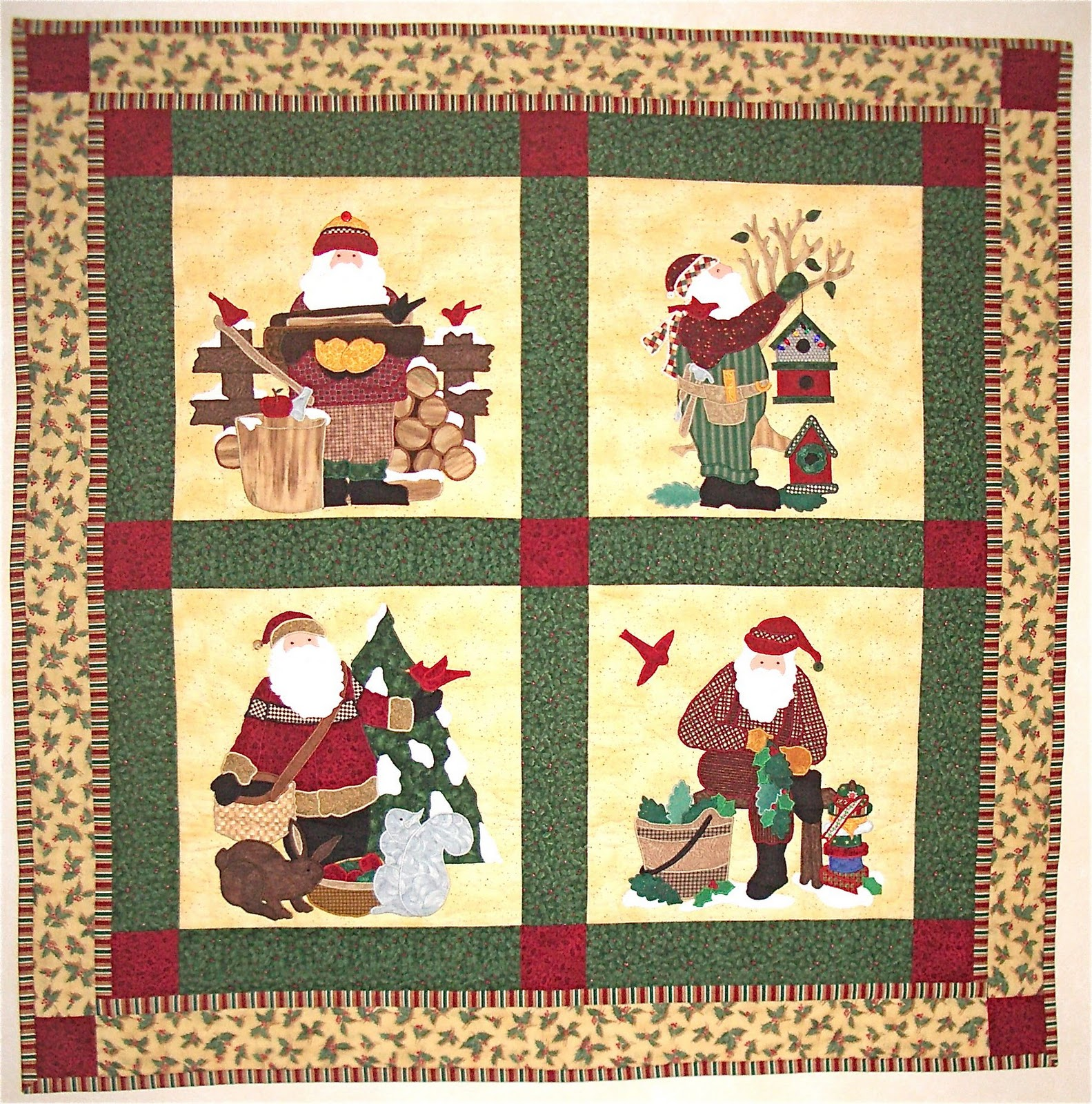 Apple Avenue Quilts How About Another Quilty Santa