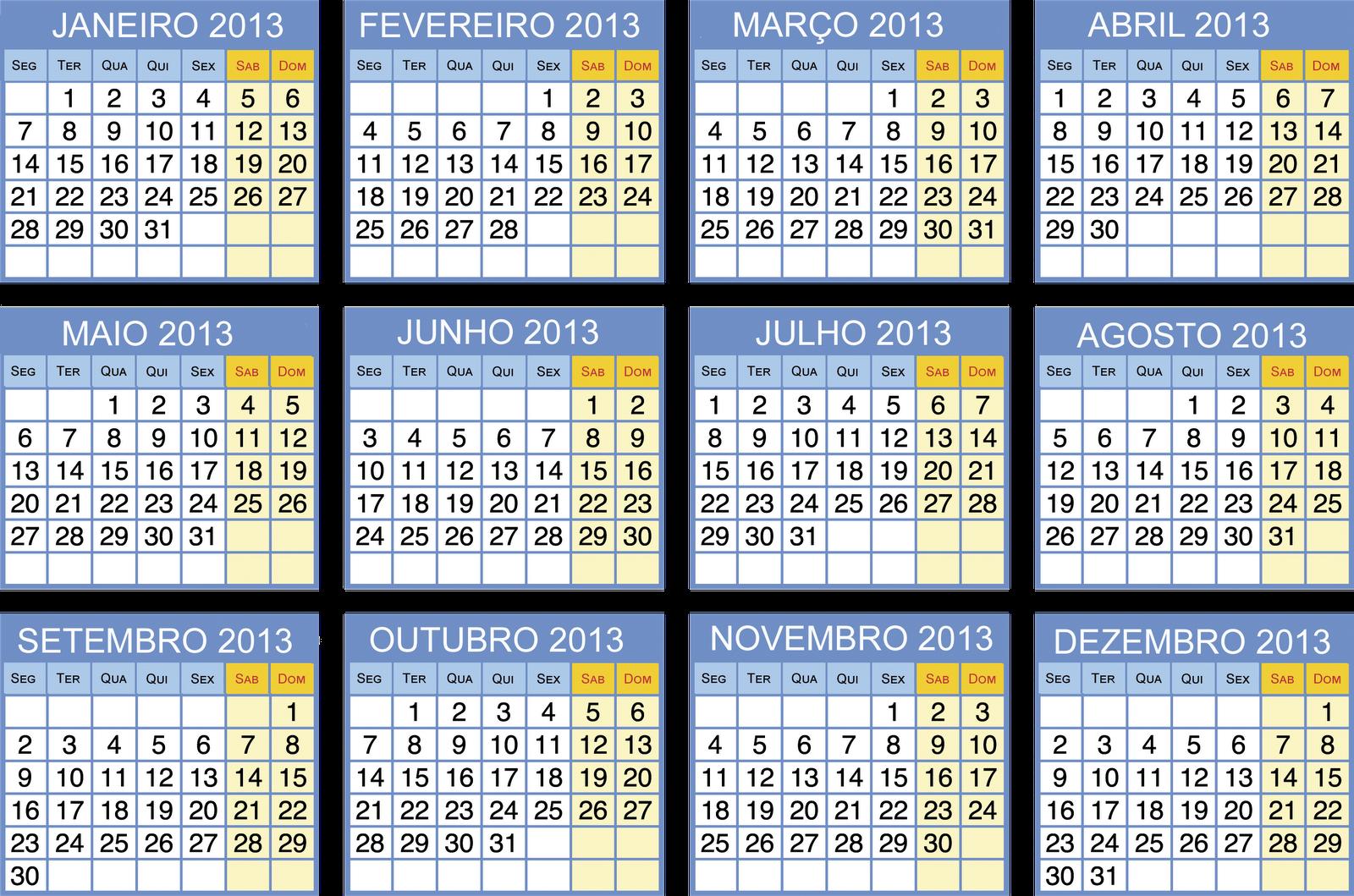 Calendar Q : Baú da web calendários para imprimir