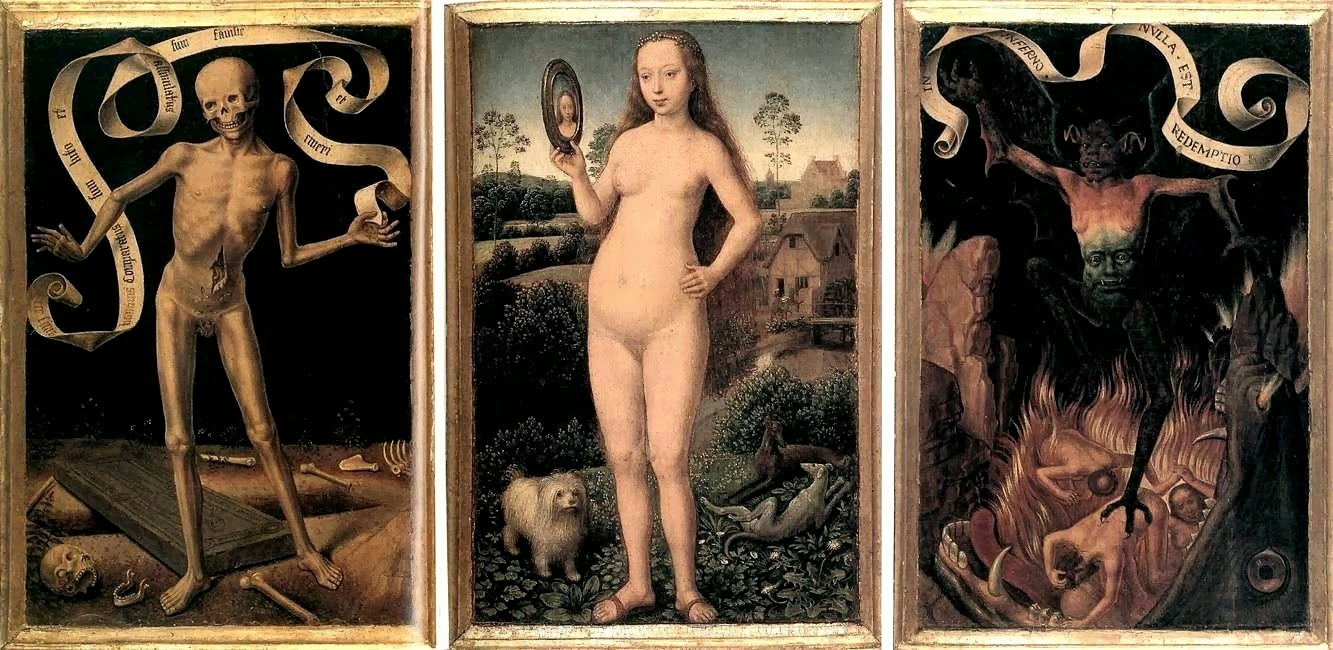 Triptych of Earthly Vanity and Divine Salvation (frontal), ca. 1490