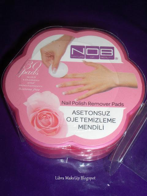 NOB polish remover pads