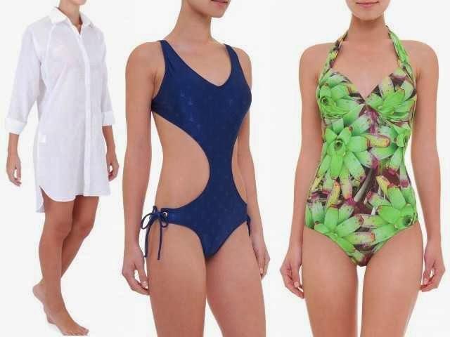 Maiô, chemise, saída de praia multiuso... férias na praia