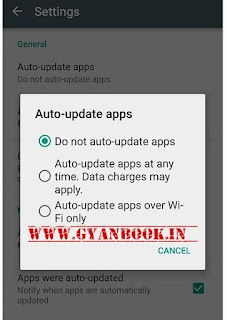 play store me auto updates band kare