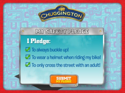 Chuggington safety pledge