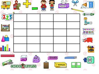 Simply First Grade Fun: Smartboard Back to School Bingo - Using ...