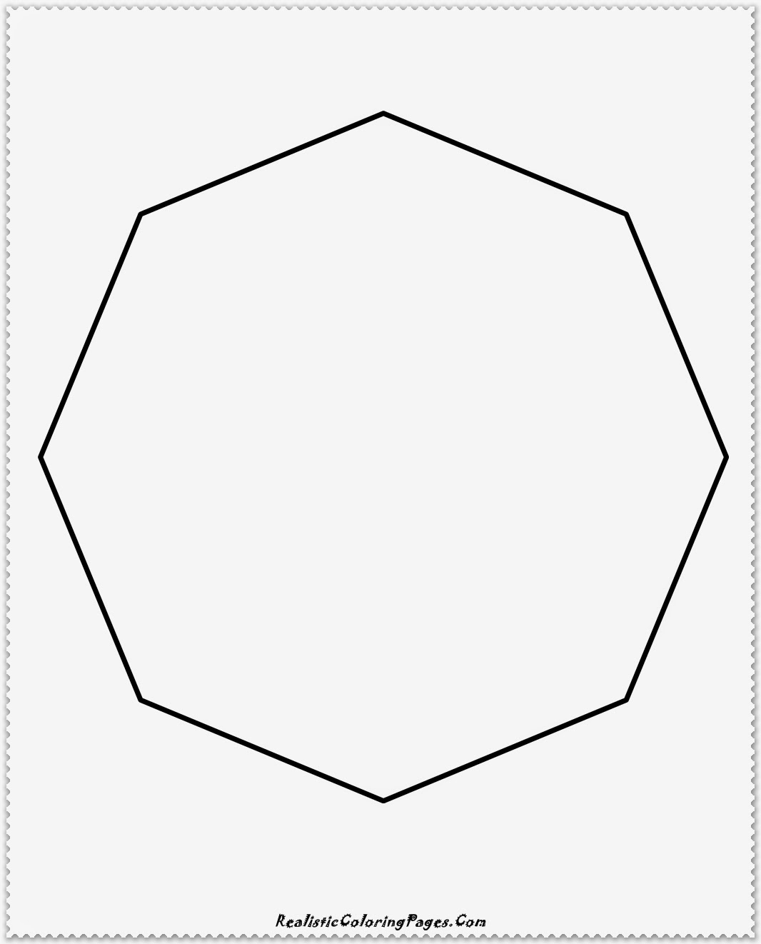 8 side polygon coloring pages