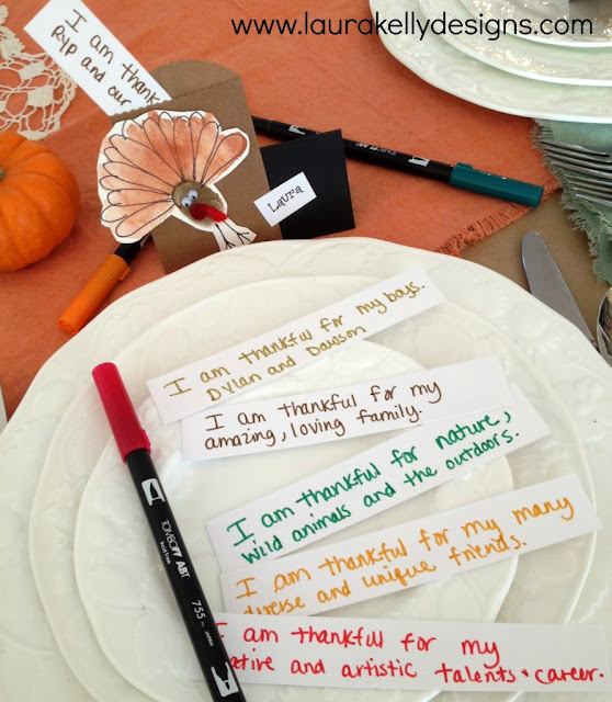 11 Thanksgiving Table Decor Ideas featuring Interactive Thanksgiving Table with Laura Kelley