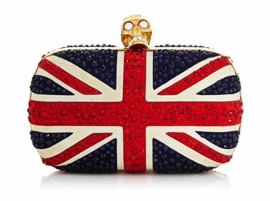 Alexander McQueen BRITANNIA Leather clutch