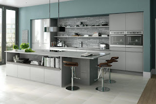 Inline Gloss Grey Kitchen