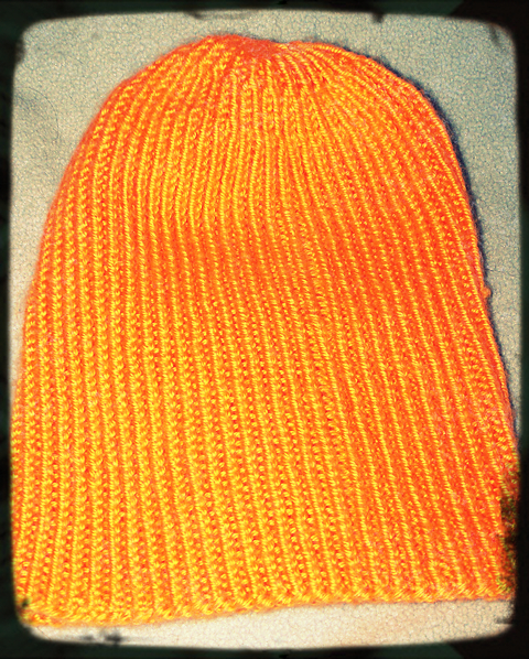Knitting Rib Stitch On Circular Needles : Knitting pattern twisted rib watch cap bona fide boho