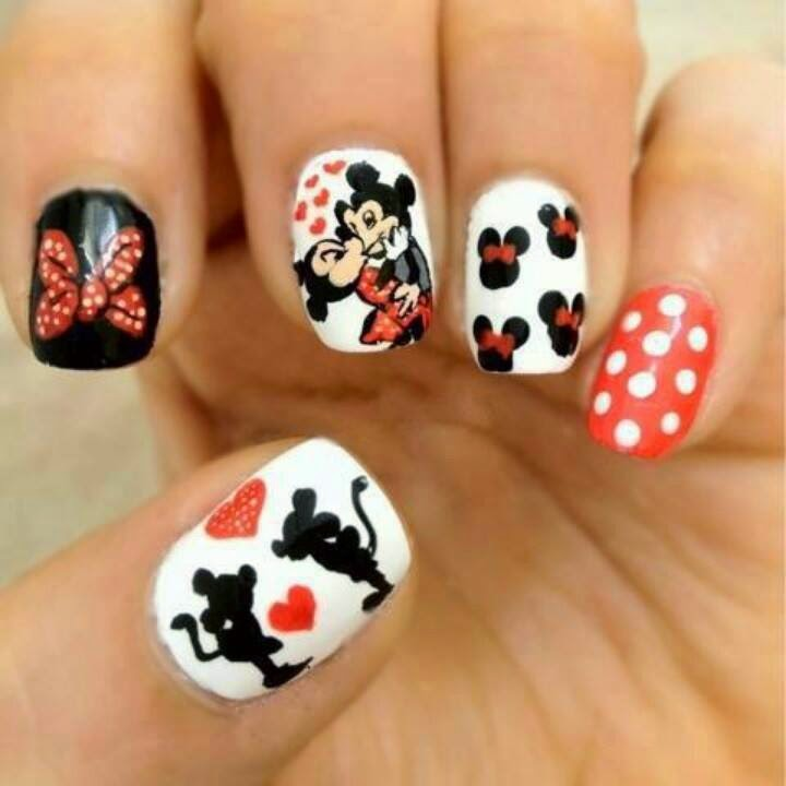 Mickey Mouse Nail Designs.