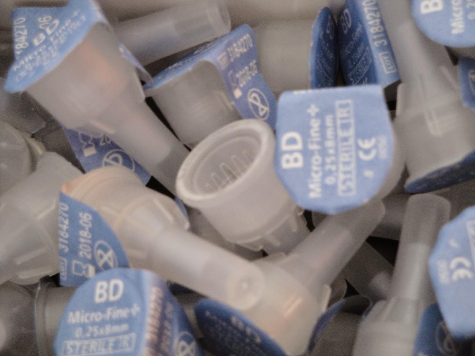 Agulhas de insulina 8 mm