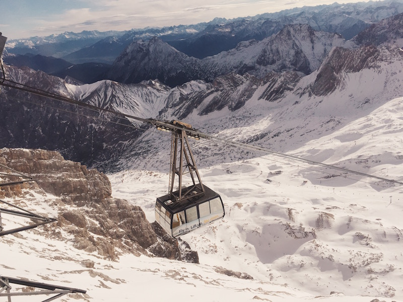 Bryn Newman of Stone Fox Style visits the Zugspitze the highest mountain top in germany