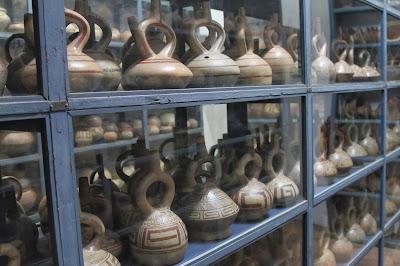 Shelves in the Pottery Storeroom