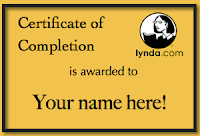 "Certificate of completion is awarded to ""Your name here!"""