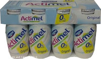 Danone Actimel fat free drinking yogurt