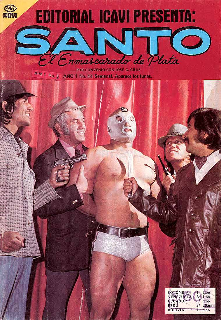 Santo and blue demon comic book covers