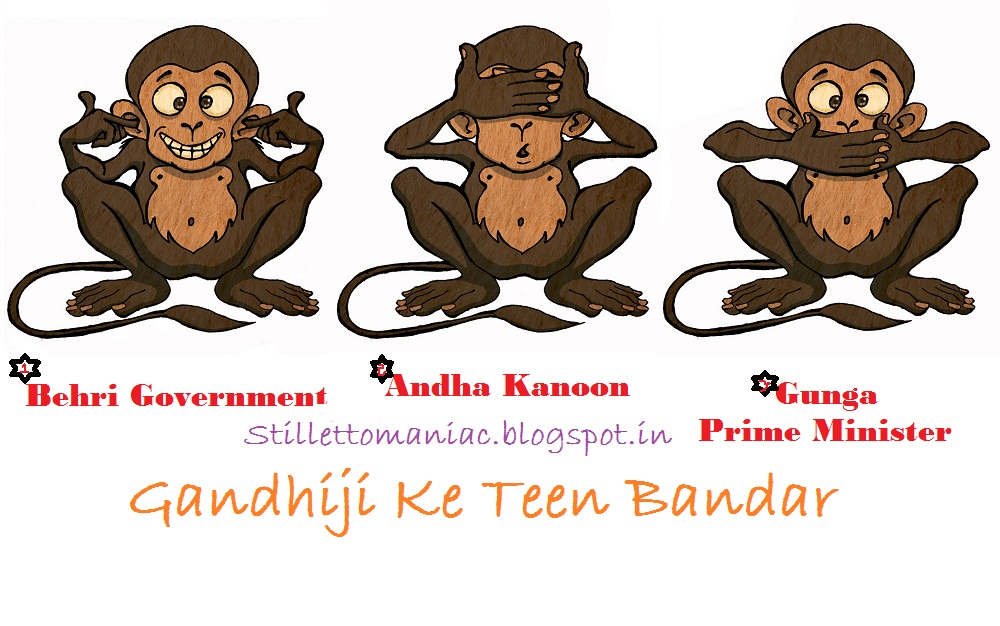 My First Attempt At A Web Comic Gandhiji S Three Monkeys