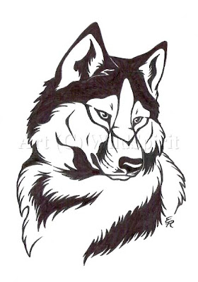 free design wolf tattoo