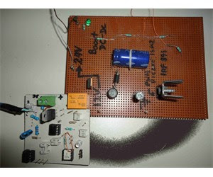 Boost DC-DC converter with Picaxe microcontroller