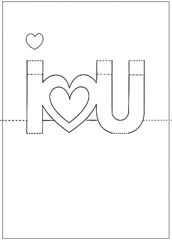 Valentine pop up card templates the for Twisting hearts pop up card template