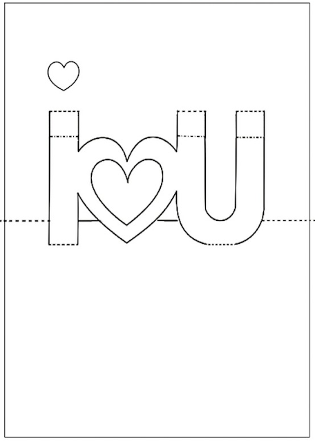 I Love You Pop Up Card Template Printable