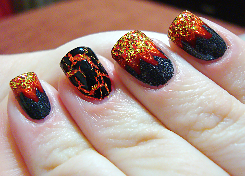 Hunger Games Inspired Manicure With China Glaze Mini Tutorial