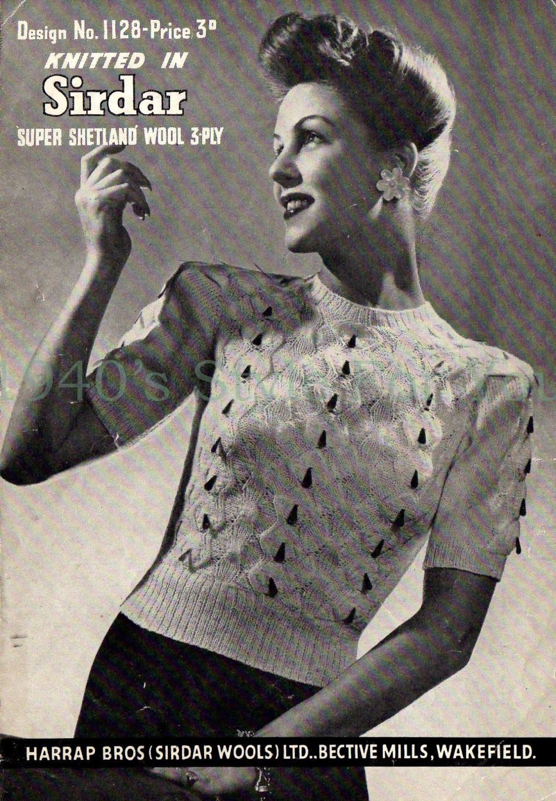 1940\'s Style For You: Free Knitting Pattern - 1940\'s jumper - Sirdar ...