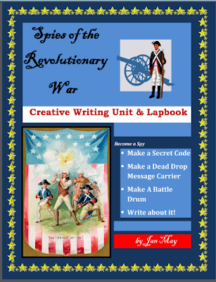 Spies of The Revolutionary War Writing Lessons and Lapbook