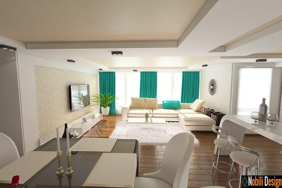 Casa amenajata in stil modern living open space for Casa moderna living