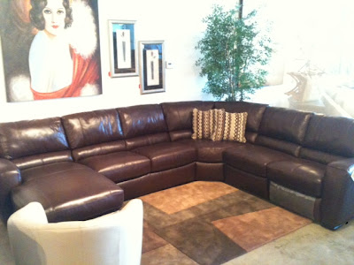 Italian leather recliner sofa furniture san diego furniture divano, top-grain leather, aniline dyed