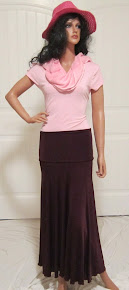 LDS Sister Missionary Skirt in Burgandy Wine, size small=medium
