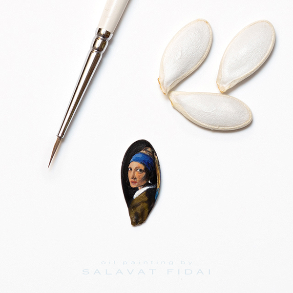 12-Girl-with-a-Pearl-Earring-Johannes-Vermeer-Salavat-Fidai-Салават-Фидаи-Miniature-Paintings-on-Matchboxes-and-Pumpkin-Seeds-www-designstack-co