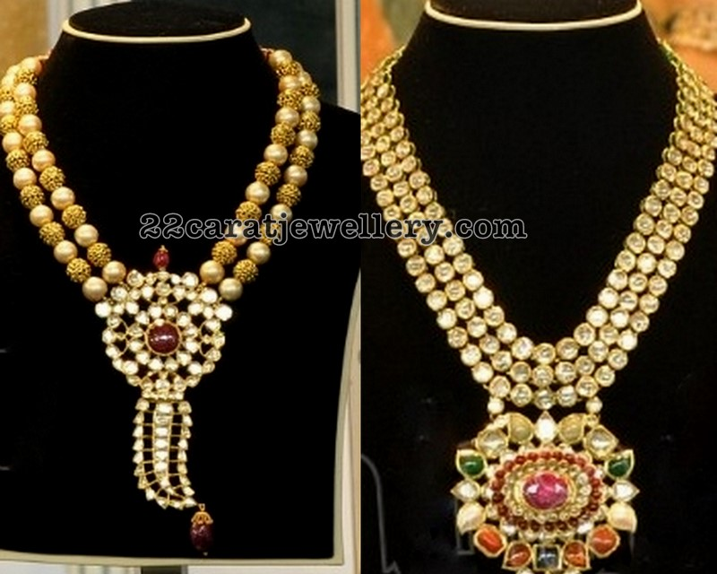 Kundan necklaces jewellery designs kundan necklaces aloadofball Images