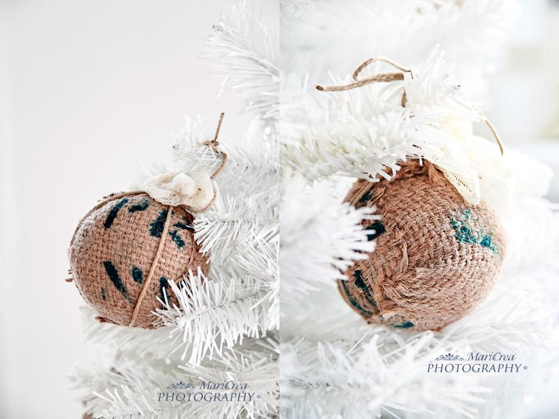 palline per l'albero di Natale fatte coi sacchi di caffè