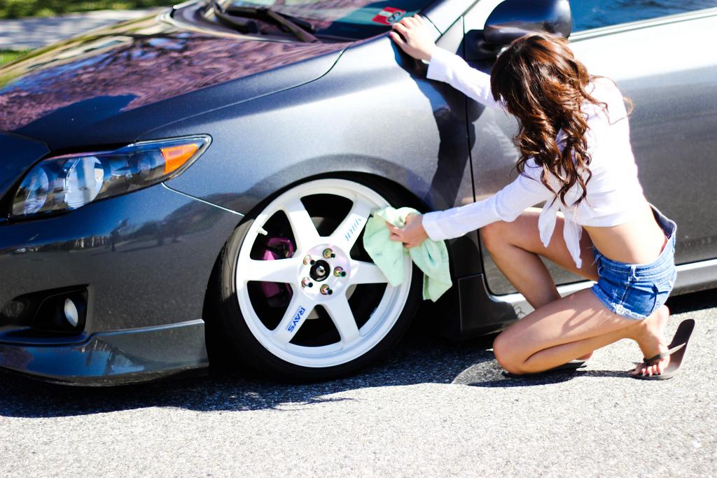 Honda, dziewczyna przy samochodzie, VTEC, galeria, zdjęcia, panny i auta, billeder