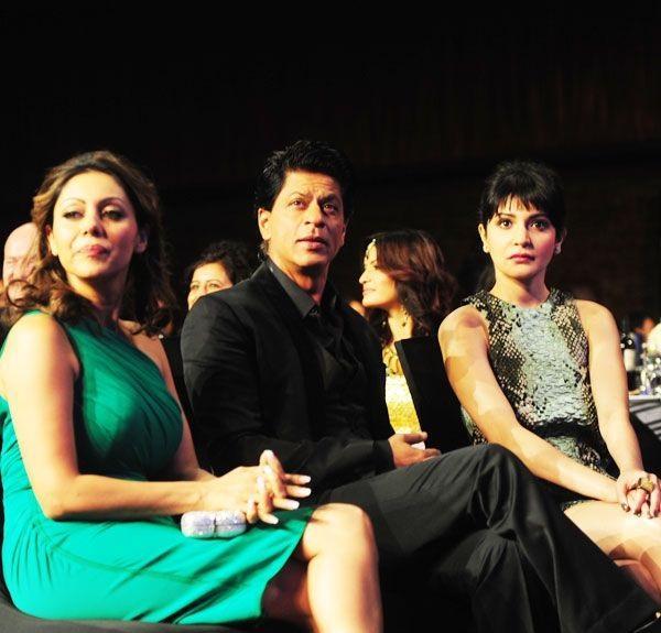 Shahrukh khan, Gauri Khan, Anushka Sharma